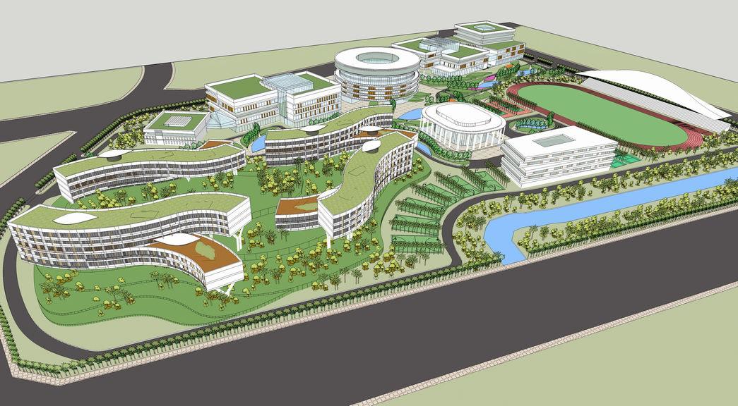 广州职业技术学院新校区SU模型