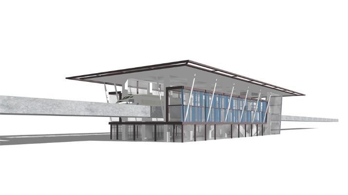轻轨站地铁站SU模型