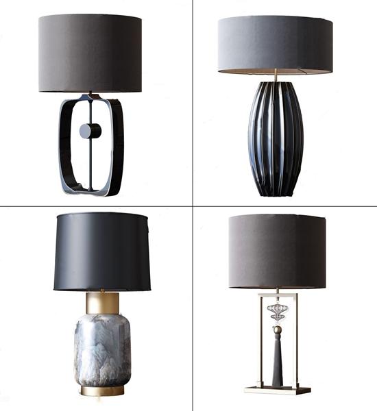 新中式台灯组合 新中式台灯 台灯组合