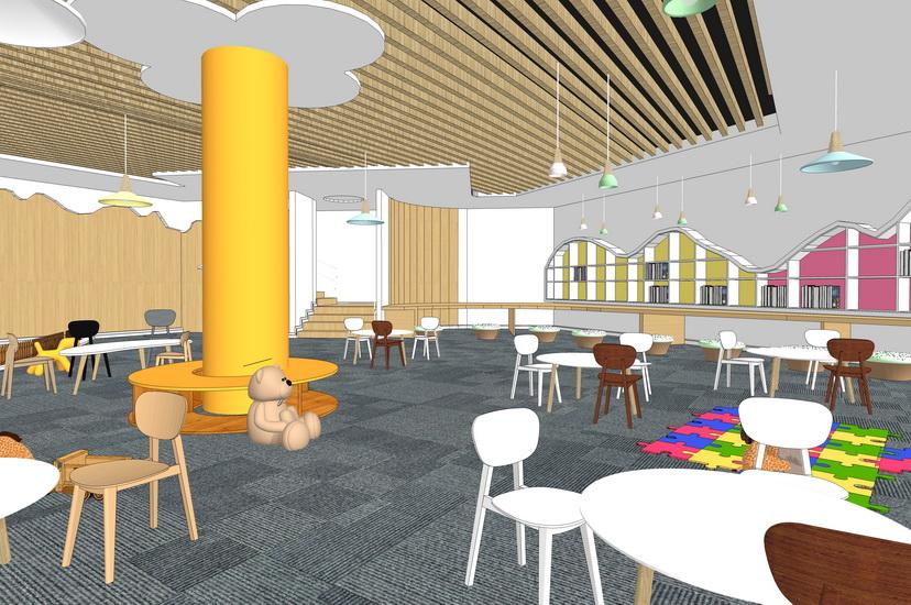 幼儿园室内设计SU模型