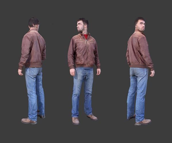 现代站姿男人3d模型