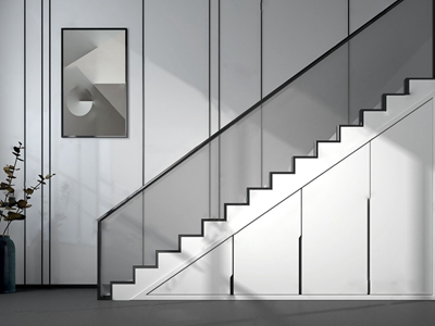 现代楼梯储藏柜 现代楼梯 隐藏储藏柜 花瓶