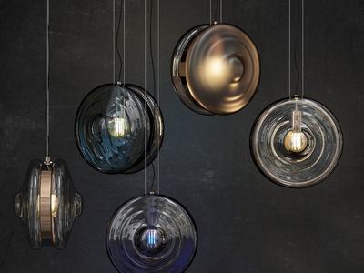 Lampatron现代玻璃吊灯组合