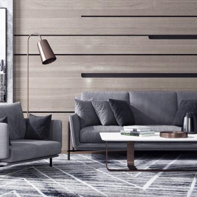 现代布艺沙发茶几摆件组合3D模型