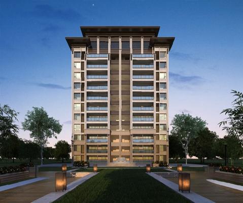 现代住宅区3D模型