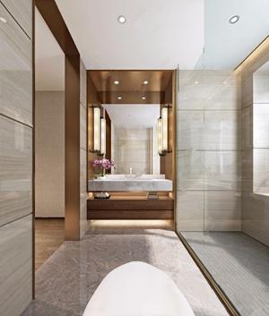 现代洗手间 现代卫浴 卫浴柜 洗脸台 壁灯 马桶