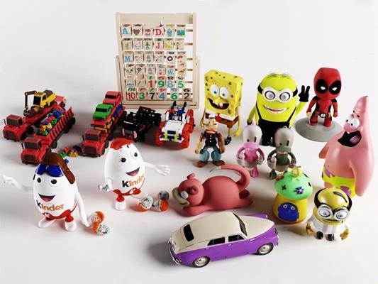 儿童玩具组合 儿童玩具 玩具车 小黄人 海绵宝宝