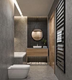 现代卫生间 现代卫浴 马桶 浴缸 洗手台 卫浴柜 装饰镜