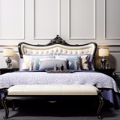 欧式古典双人床3d模型