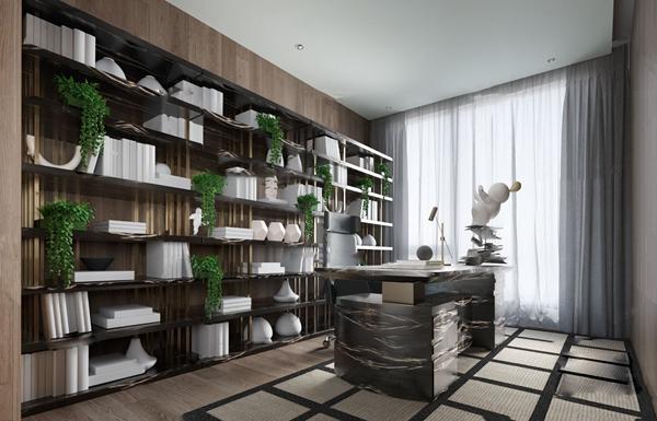 DIA丹健国际设计 现代书房3d模型