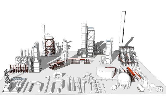 工厂设备组合SU模型