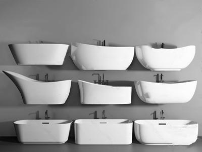 现代浴缸洁具组合 现代卫浴用品 浴缸 水龙头