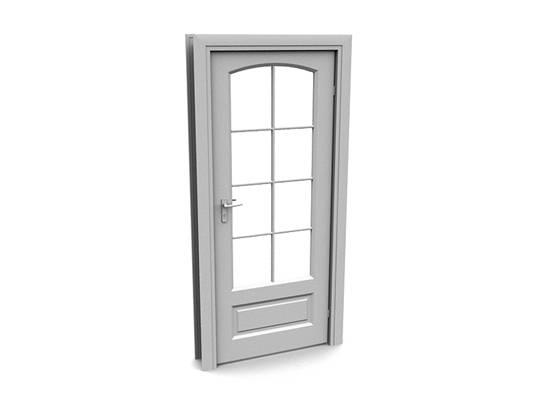 现代白模木艺单开门11
