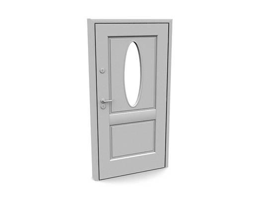 现代白模木艺单开门47