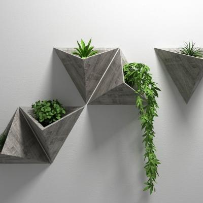北欧绿植墙饰挂件3d模型