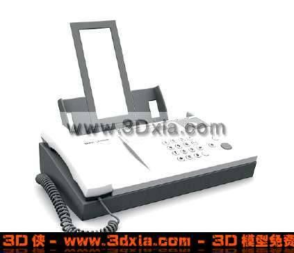 普通常见的传真机3D模型