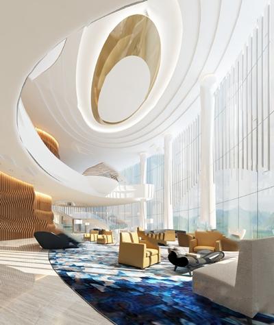 现代大厅3D模型