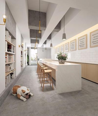 北欧抹茶店铺 北欧咖啡店 抹茶店铺 吧台 吧椅 北欧吊灯 挂画 壁灯 书 门头