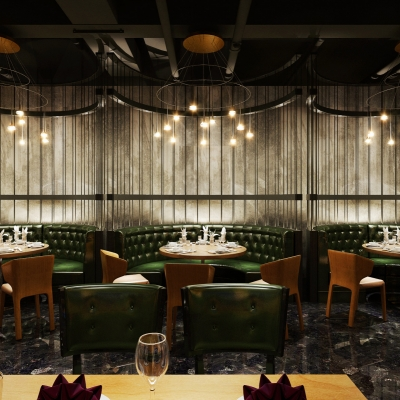 工业风奢华餐厅3D模型