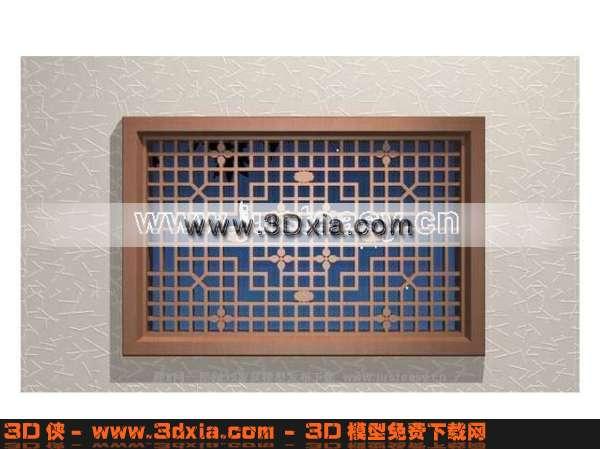 品质高级的中式窗户3D模型