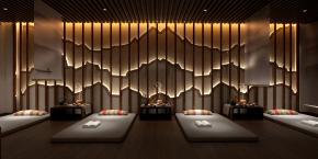 新中式spa美容会所3D模型