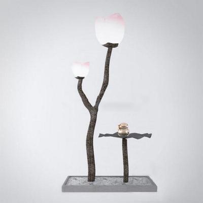 新中式古典田园创意荷花落地灯照明 模型 古典 落地灯 创意 灯 田园 新中式 荷花造型