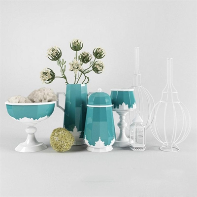 地中海风格瓷器装饰陶瓷 工艺品 装饰品 雕塑 花瓶 陶罐 瓷器 艺术品 陈列品 软装