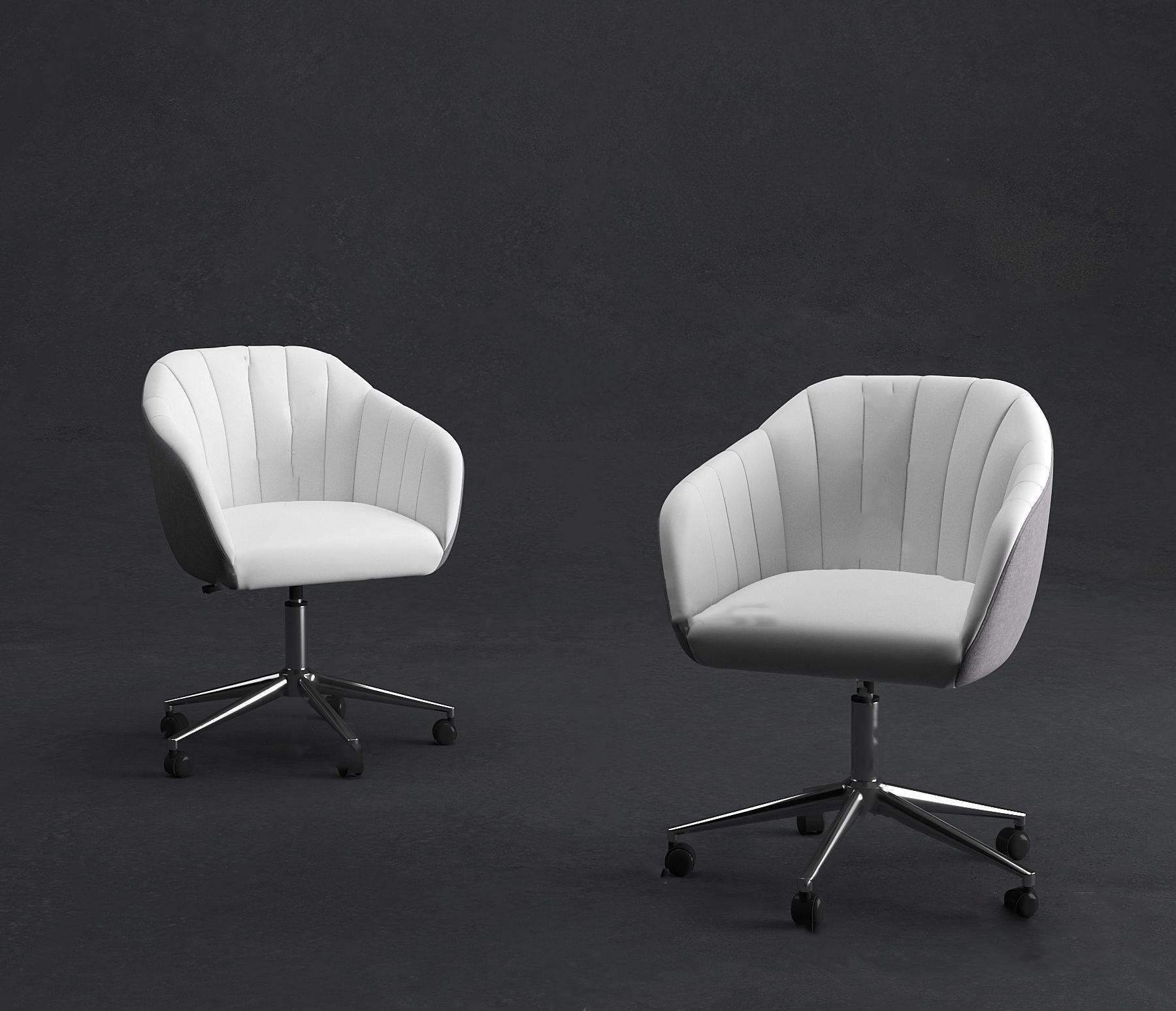 现代布艺办公椅3d模型