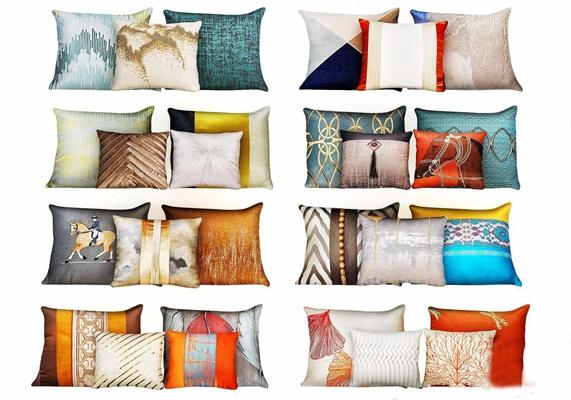 新中式抱枕组合 新中式家纺 抱枕组合
