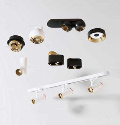 現代射燈軌道射燈3D模型