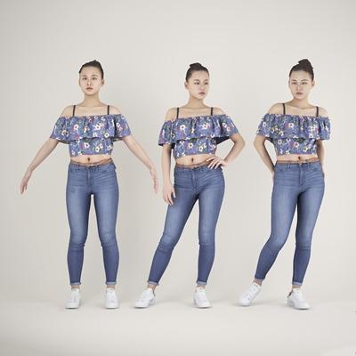 现代女性人物3D模型