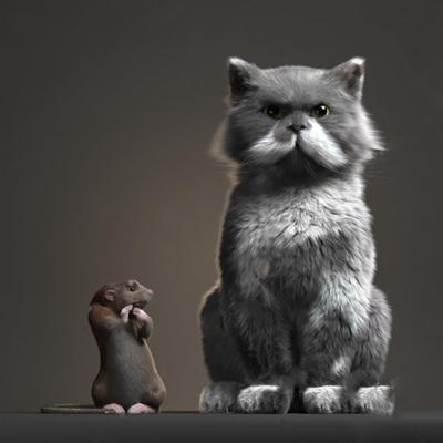 猫和老鼠 3D模型
