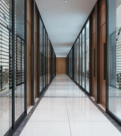 現代辦公室過道走廊3D模型