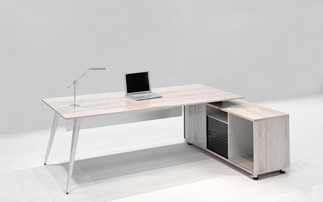 現代大班臺辦公桌3D模型