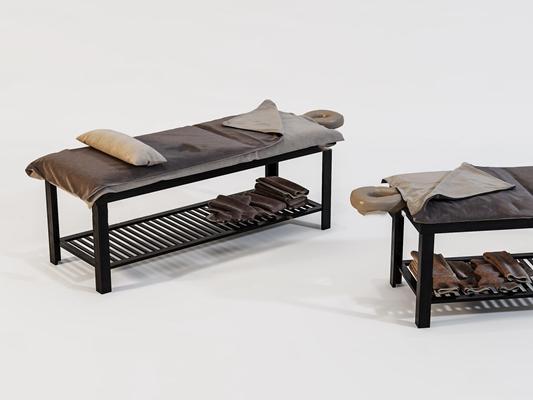现代美容院按摩床3D模型