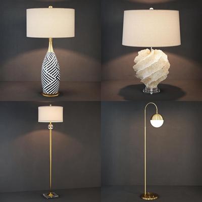 现代落地灯台灯组合3D模型