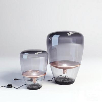 现代玻璃台灯组合3D模型