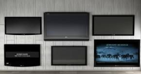 现代液晶电视组合3D模型