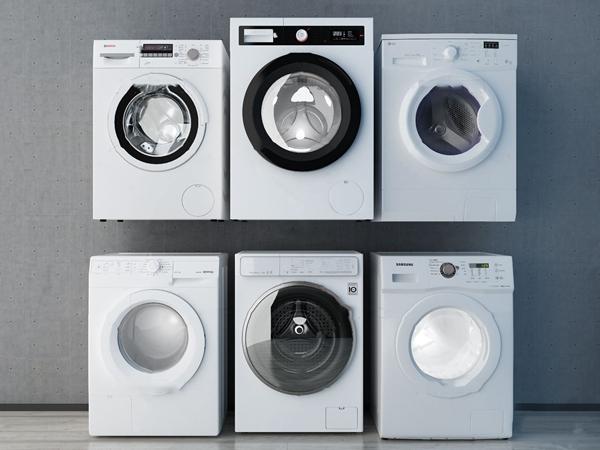 现代滚筒式洗衣机3d模型