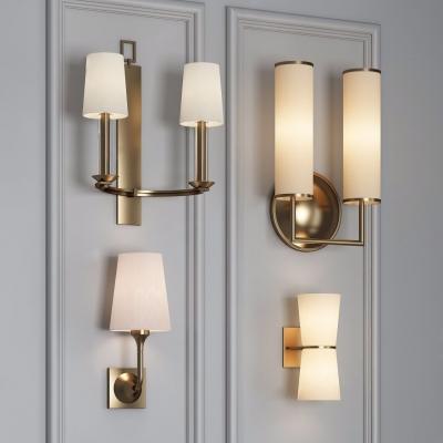 美式金属壁灯组合3D模型