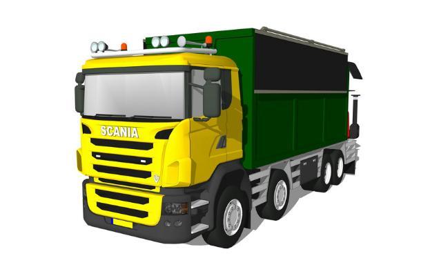 垃圾运输卡车SU模型