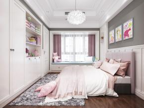 现代儿童卧室女孩房3D模型