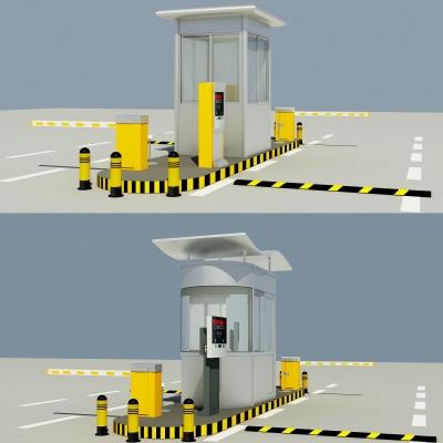 现代道闸岗亭3D模型