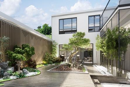 新中式庭院景观3d模型