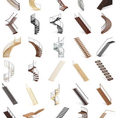 现代楼梯组合3D模型