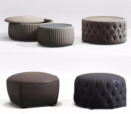 坐垫组合 现代脚踏 坐垫 沙发凳 凳子 茶几