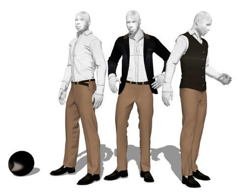 服装模特SU模型