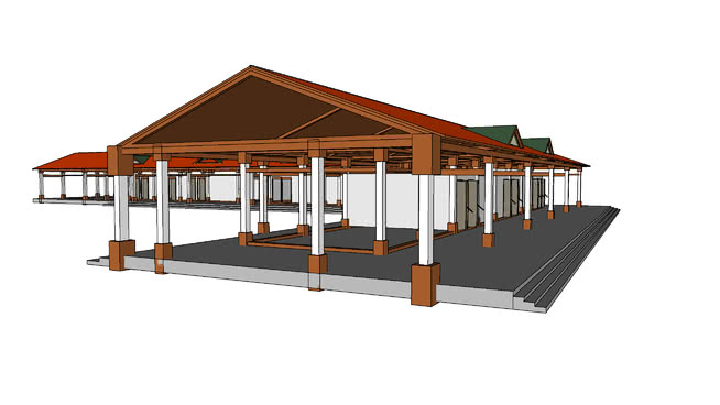 摊位和商店庭院前景 室外 帐篷 桌子 船屋 家具