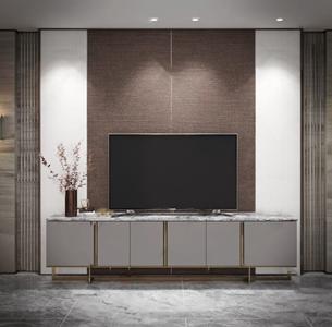 新中式电视柜 新中式电视柜 摆件 花艺 壁灯
