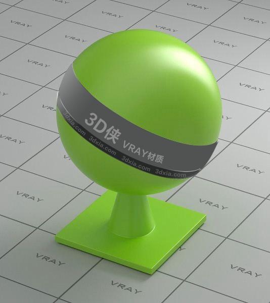 绿色塑料Vray材质下载